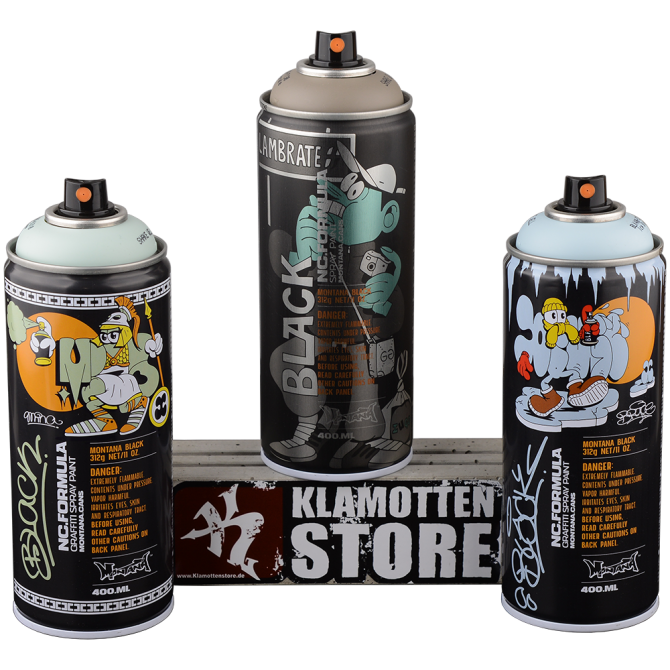 Montana Sprühdosen Montana Black limited Artists Edition chemtrails 3x400ml