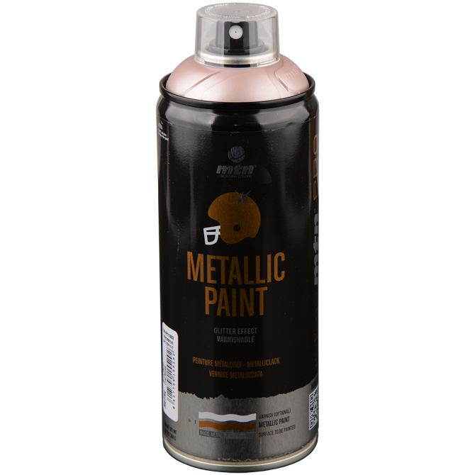 Sprühdose MTN Pro Metallic-Lack pink gold rose 400ml