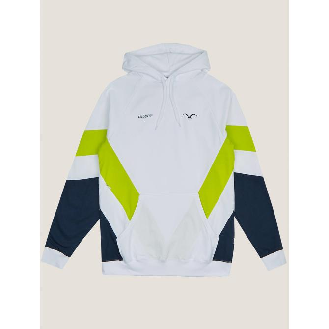 Männer Kapuzenpullover Cleptomanicx Hooded That is That 2 white / lime M