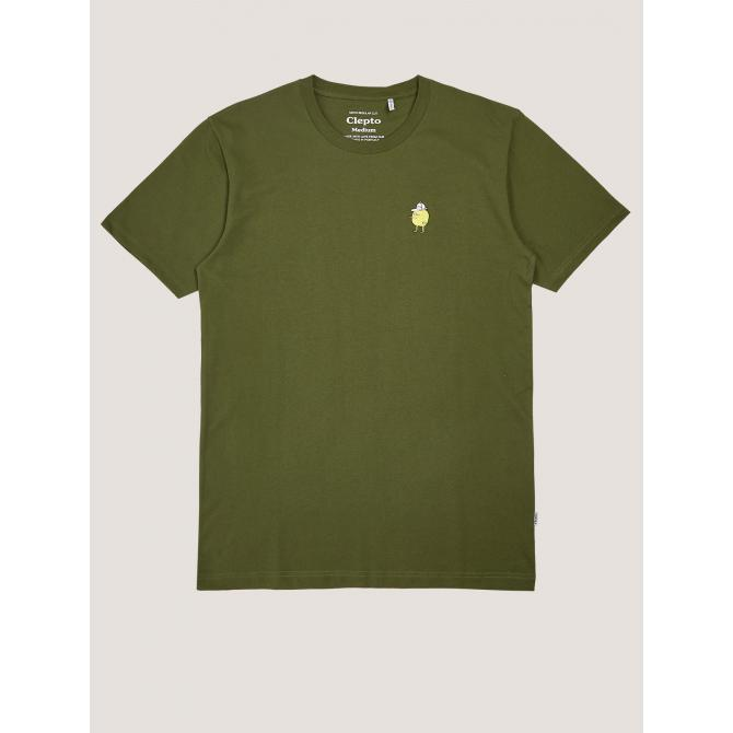 Cleptomanicx Männer T-Shirt Cleptomanicx Basic Tee Zitrone rifle green
