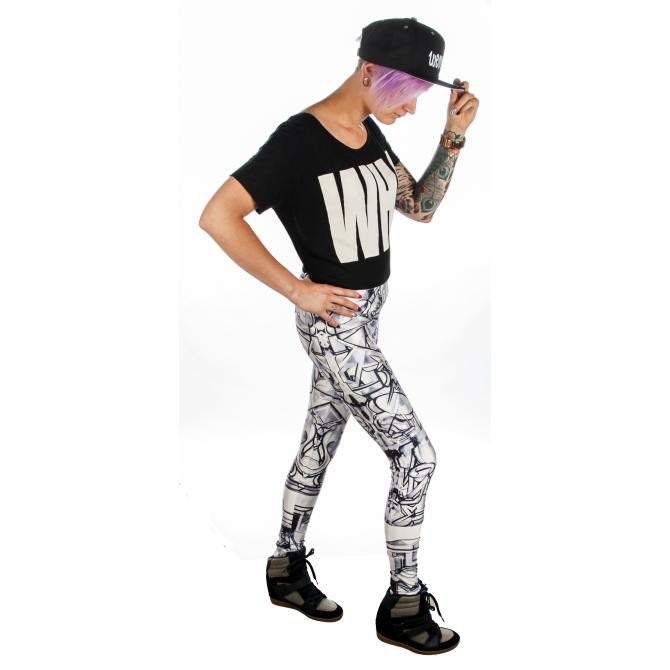 Graffiti Beasts Leggings Legging by Pariz One multicoloured - Größe: M