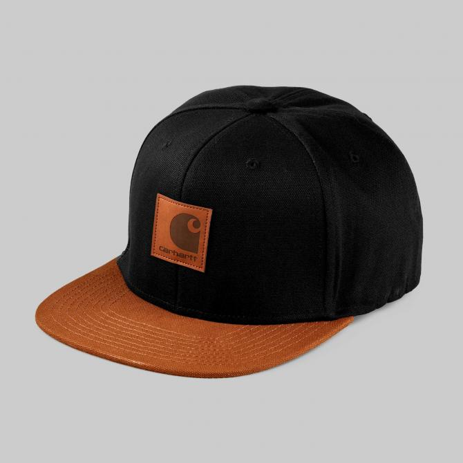 Snapback Cap Carhartt WIP Logo Cap Bi-Colored black hamilton brown