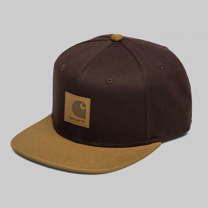 Snapback Cap Carhartt WIP Logo Cap Bi-Colored tobacco hamilton brown