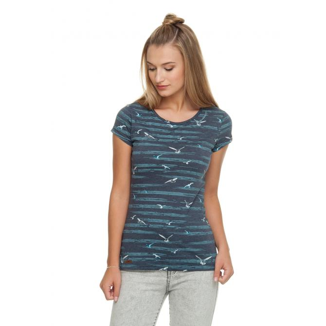 Frauen T-Shirt Ragwear Mint Birds navy XS