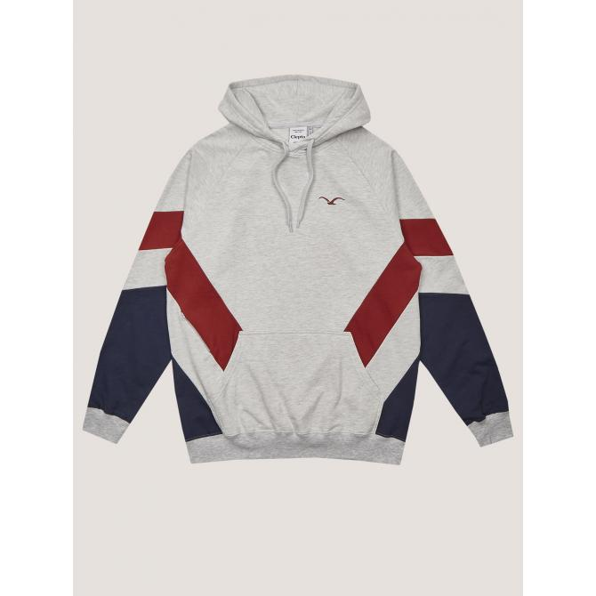 Cleptomanicx Männer Kapuzenpullover Cleptomanicx Hooded That is That 2 light heather gray