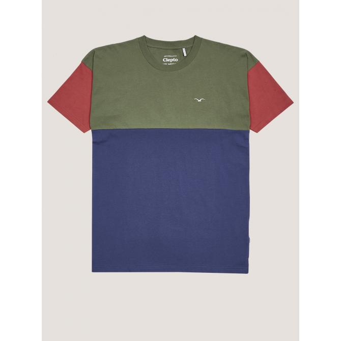 Cleptomanicx Männer T-Shirt Cleptomanicx Dropshoulder Tee Drop rifle green