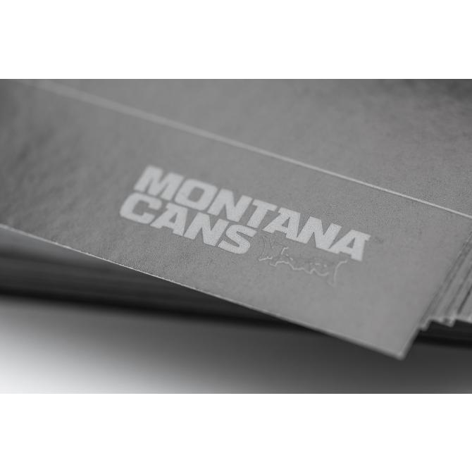 Montana Aufkleber Hello My Name Is Din A6 100er Pack Black