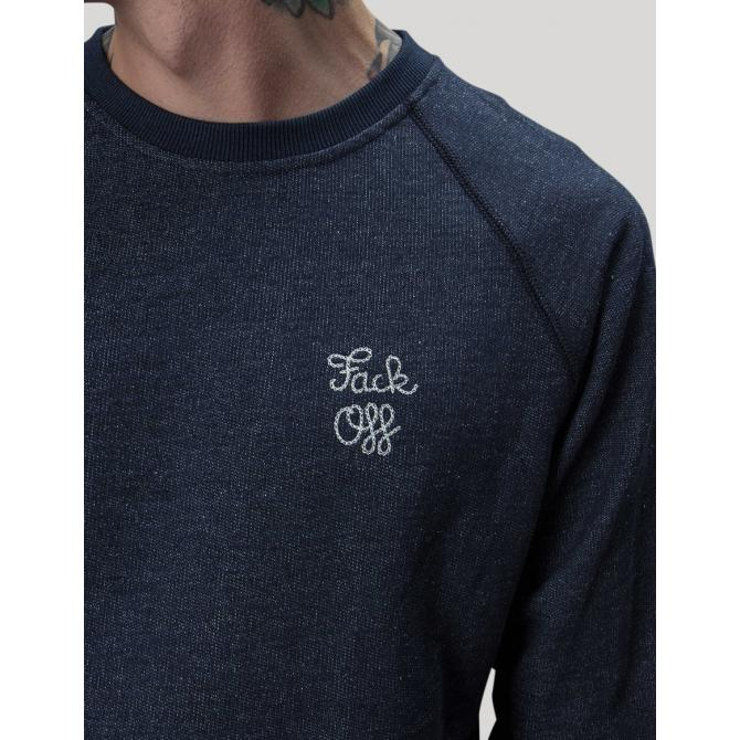 The Dudes Männer Pullover The Dudes Fack Off Cute indigo blue