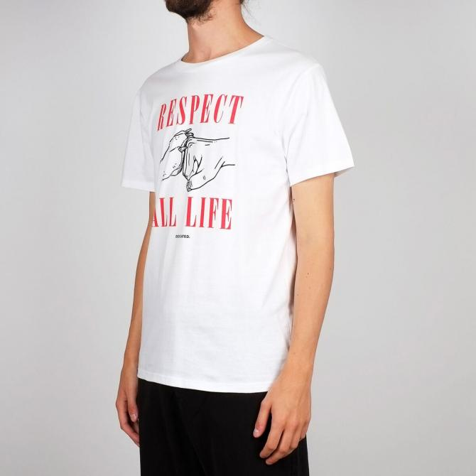 Dedicated Männer T-Shirt Dedicated Stockholm Respect Life white