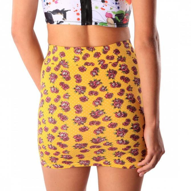 Iron Fist Iron Fist Rock Ladies Scary Prairie Mini Skirt yellow, L