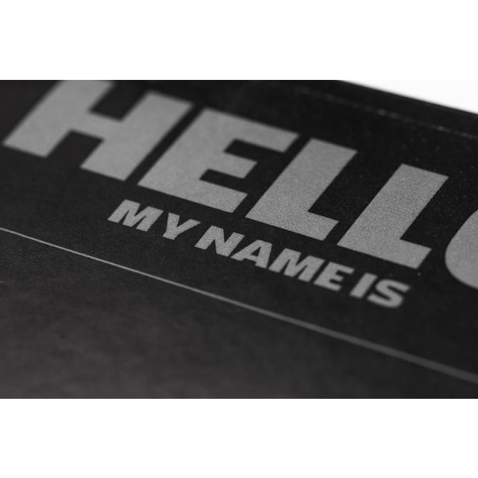 "Montana Montana ""Hello my name is…"" Sticker 100er Pack black + 1 Permanent Short Marker silver"