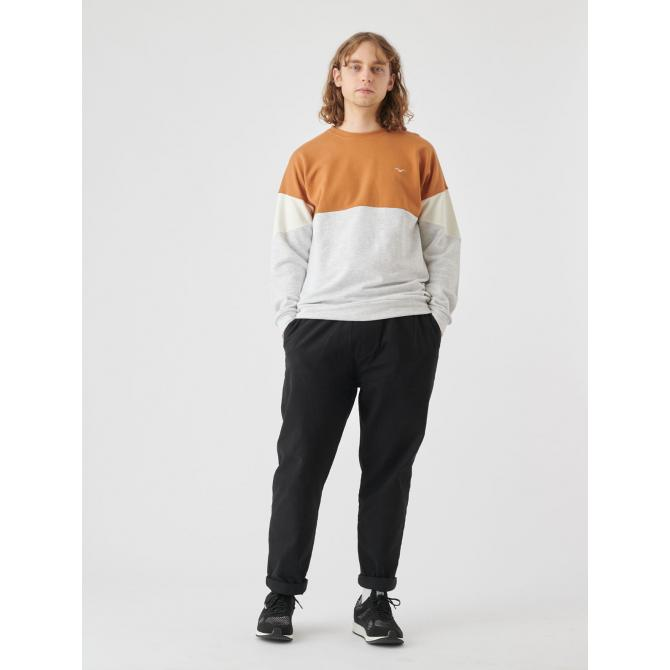 Cleptomanicx Männer Pullover Cleptomanicx Crewneck Drop 91 brown ginger